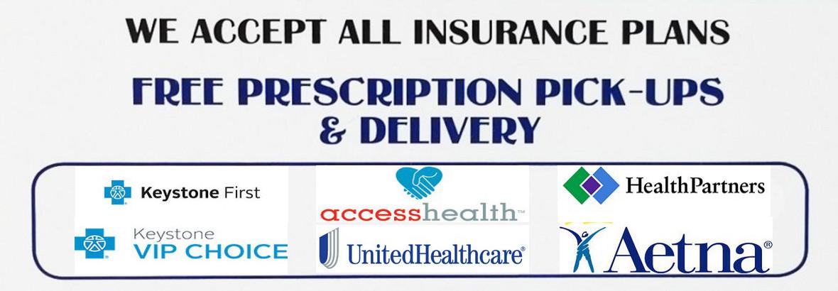We accept most insurances.